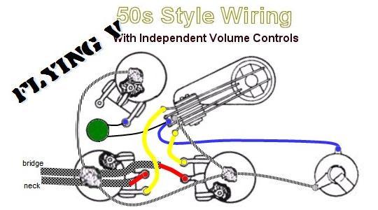 Humbucker Pickup 50S Wiring Diagram from ashbass.com